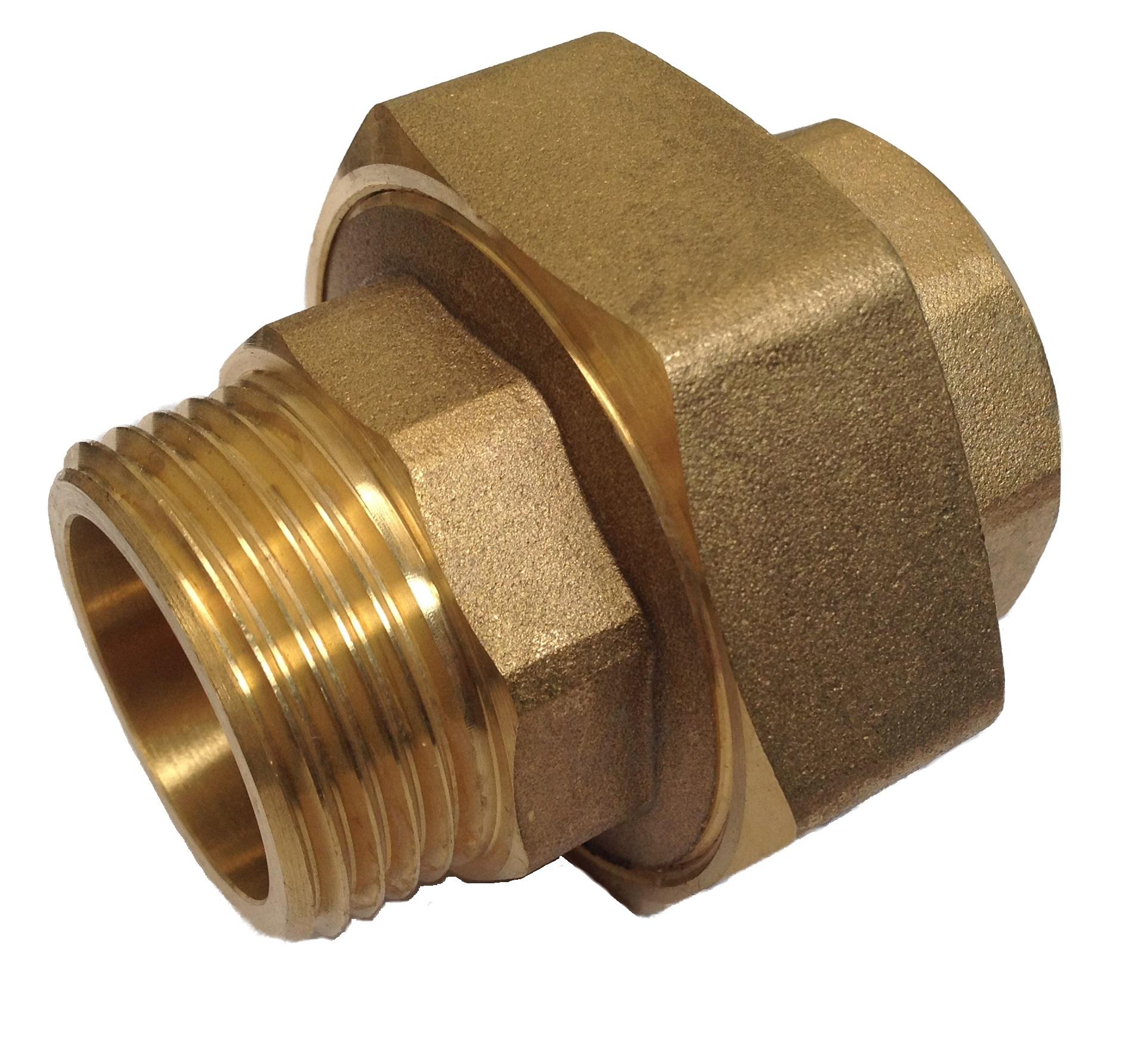 Union Brass Fitting 4/4M x 4/4F