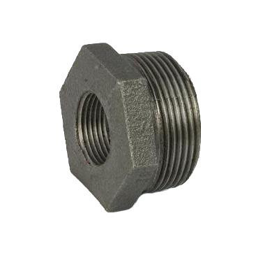 Malleable Iron Hexagon Bushing 1/2Mx3/8F Nickel