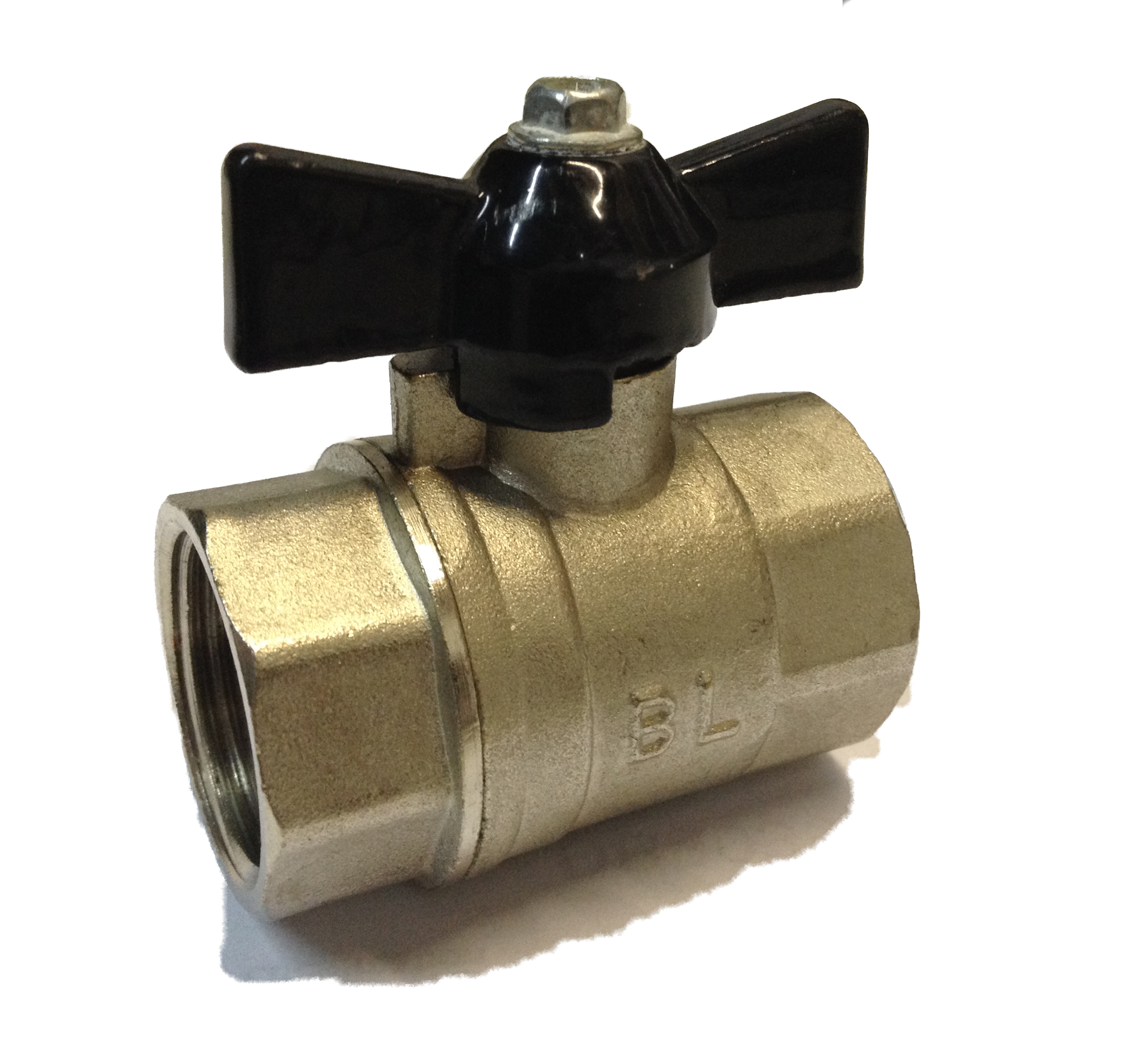 Ball Valve w/ Butterfly 3/4 FxF Black
