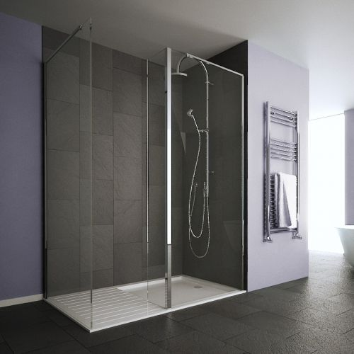 Showerwall 35x200 Glas 8 MM swinging