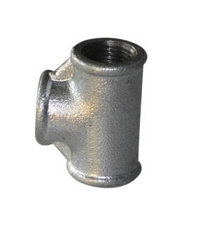 Malleable Iron Reducing Tee 1/2Fx3/4Fx1/2F Nickel