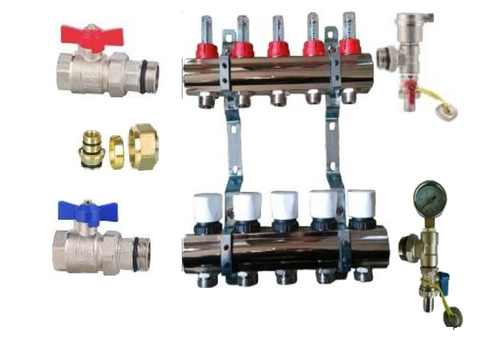 """Manifold kit 1""""FxF flowmeter 3/4EK x 6"""