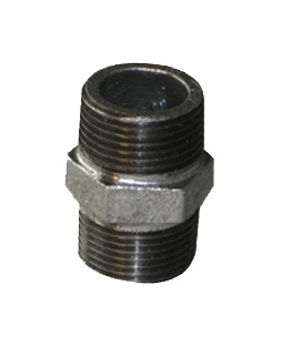 Malleable Iron Nipple 4/4Mx4/4M Nickel