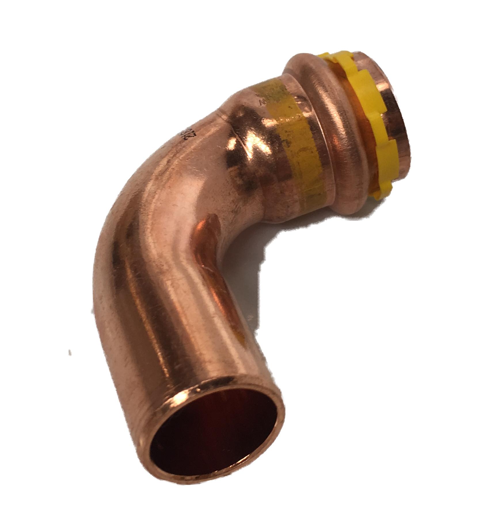 Copper Sudopress Press 90°Bend for GAS 15x15 V-profile