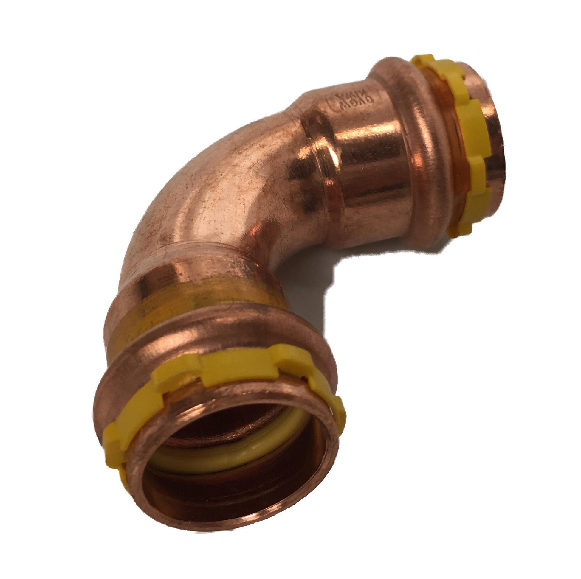 Copper SudopressPress Bend FF GAS 15x15 V-profile