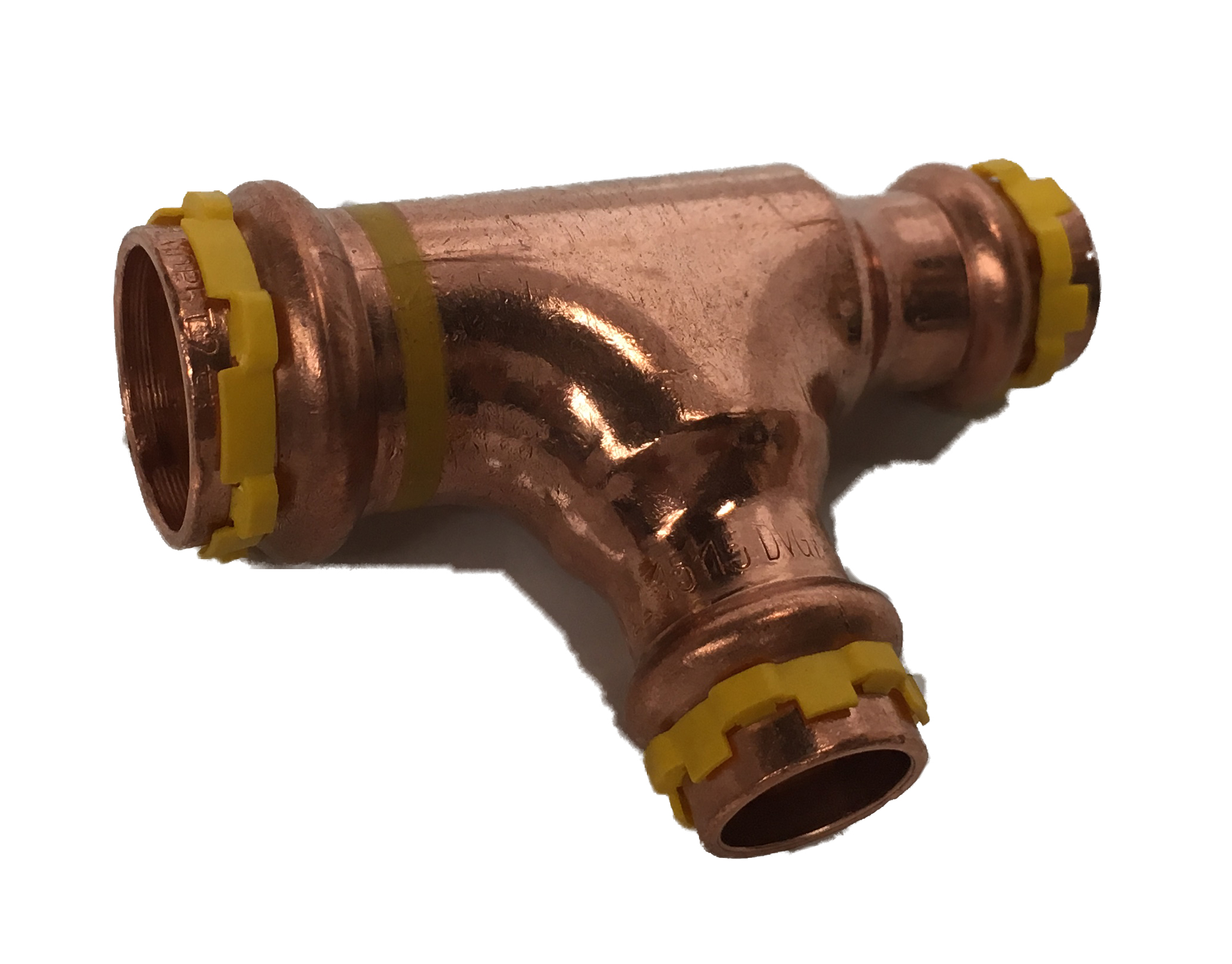 T press fitting for GAS 22x15x15 V-profile