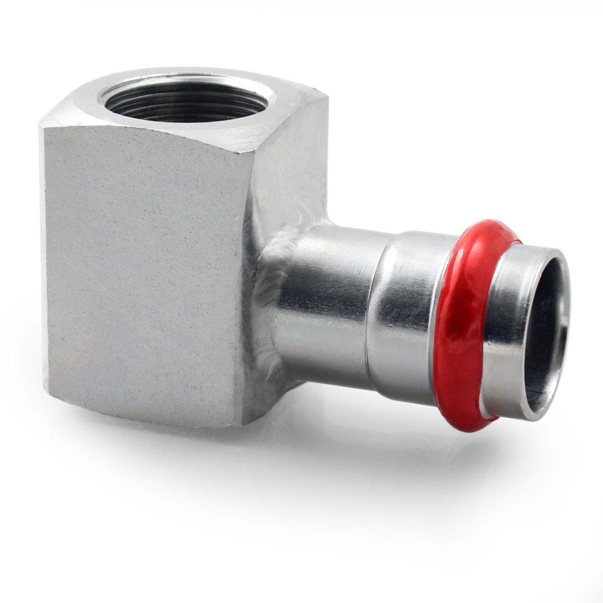 Press Steel Elbow Female 1/2Fx22