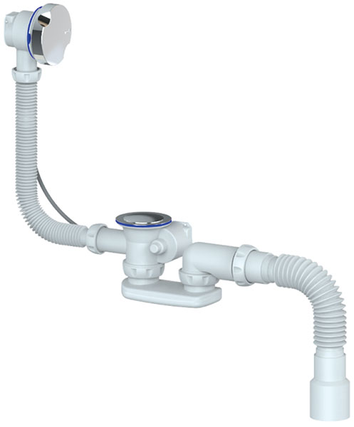 Set Bath Bottle trap Flexibe hose 40/50 waste Overflow AUTO