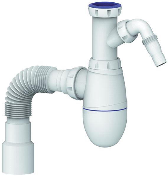 "Kitchen Bottle trap 6/4"" flexible hose 40/32 Washmachine"