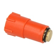 Test plug 1/2M with oring - BRASS - Red