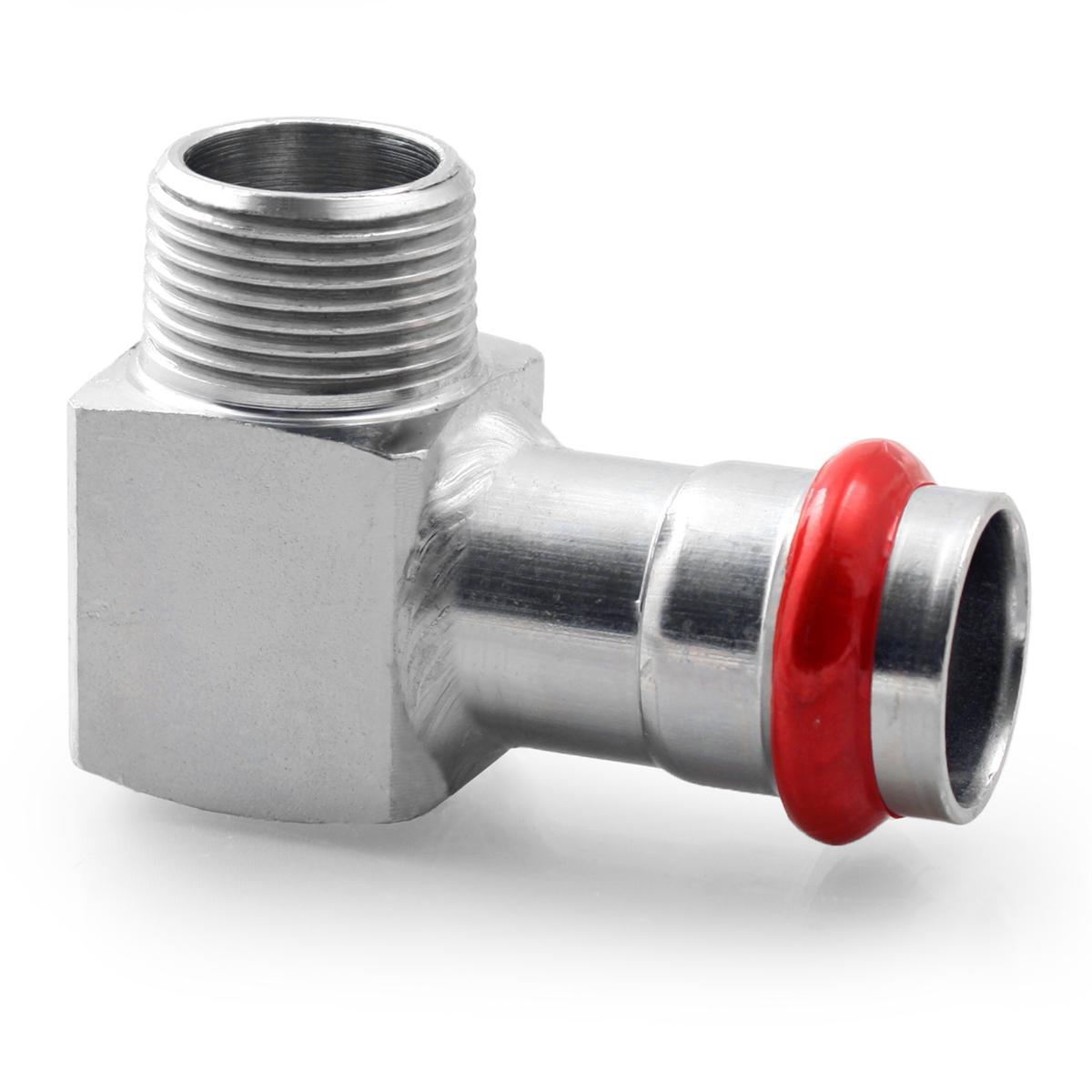 Press Steel Elbow Male 1/2Mx18