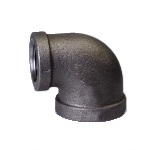 Malleable Iron Reducing Elbow 4/4Fx 1/2F Black