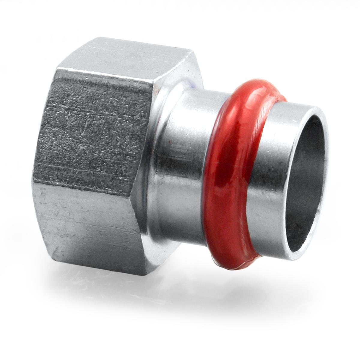 Press Steel Straight Female 1/2Fx22