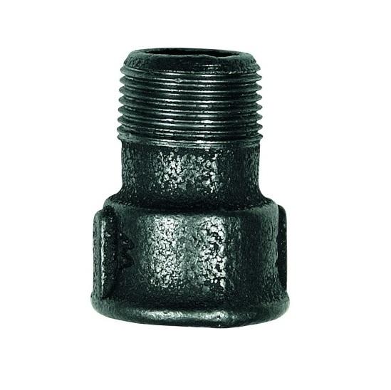 Malleable Reducing Bushing 4/4Fx3/4M Black