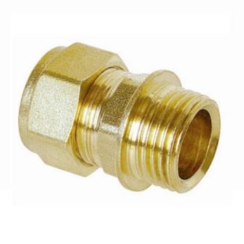Water compression Straight Male 3/4Mx22