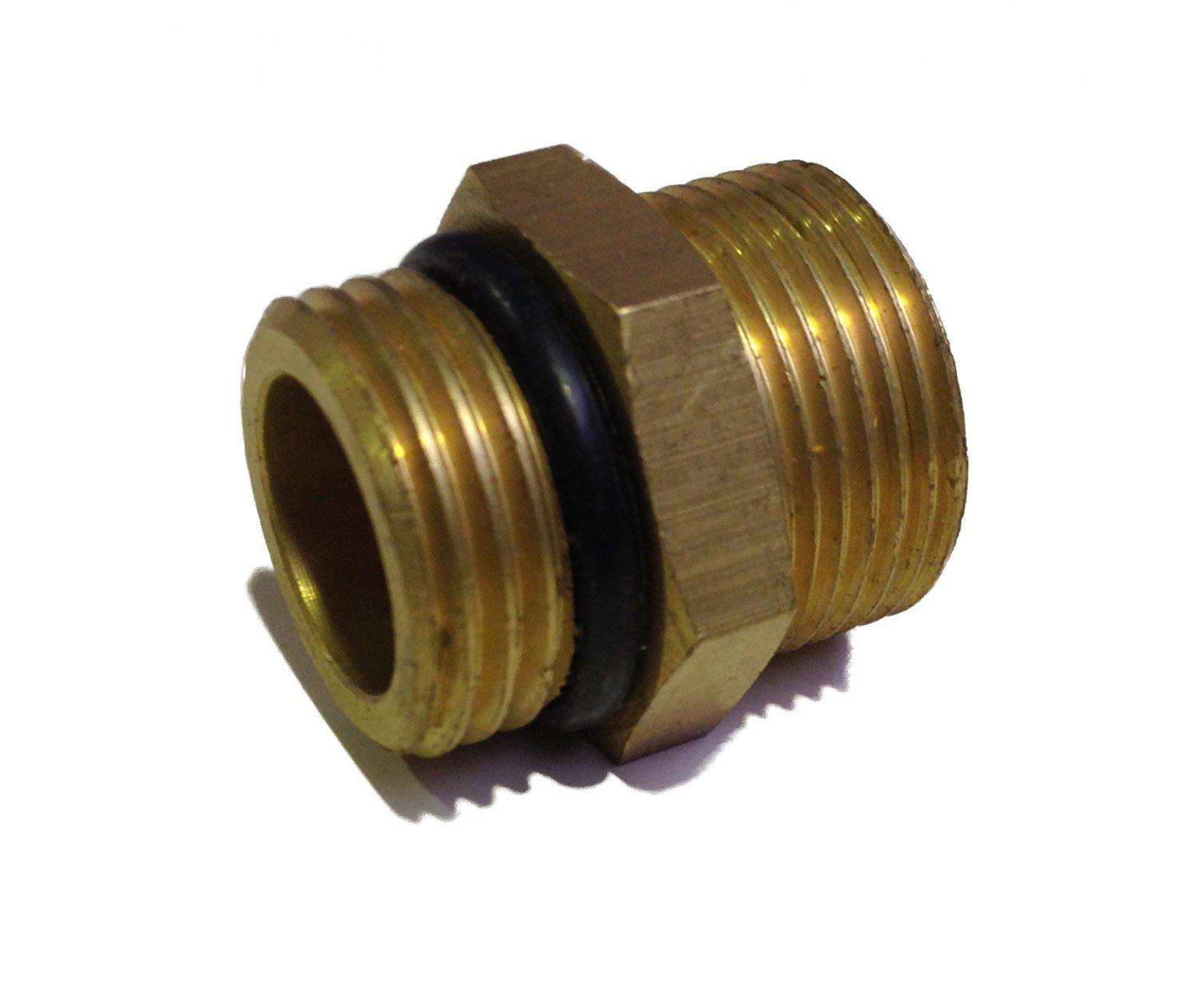 Brass Nipple 1/2M-oring x M22-cone