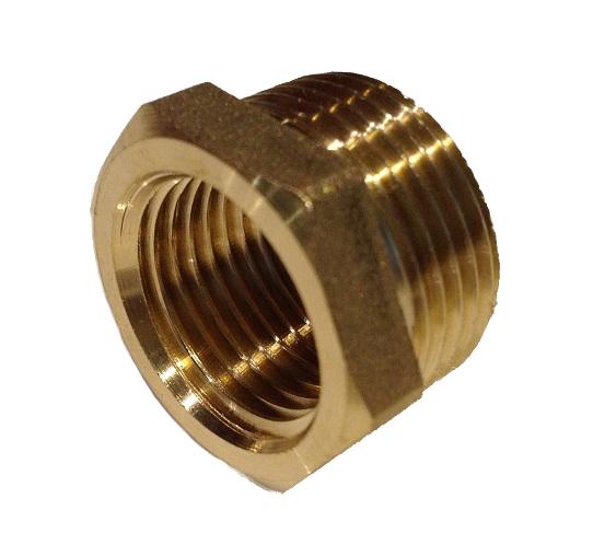 Brass Reduction 3/4M x 1/2F