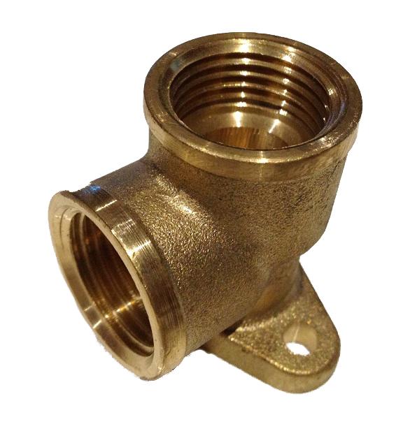Brass Wall plate Elbow 1/2F x 1/2F