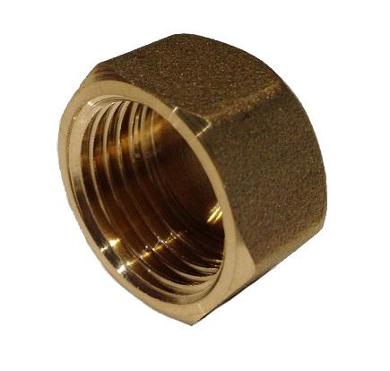 Brass Cap 1/2F