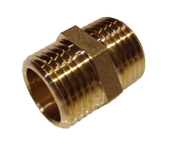 Brass Nipple 4/4M x 4/4M