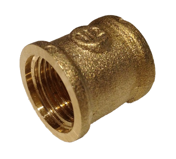 Brass Female Straight 4/4F x 4/4F