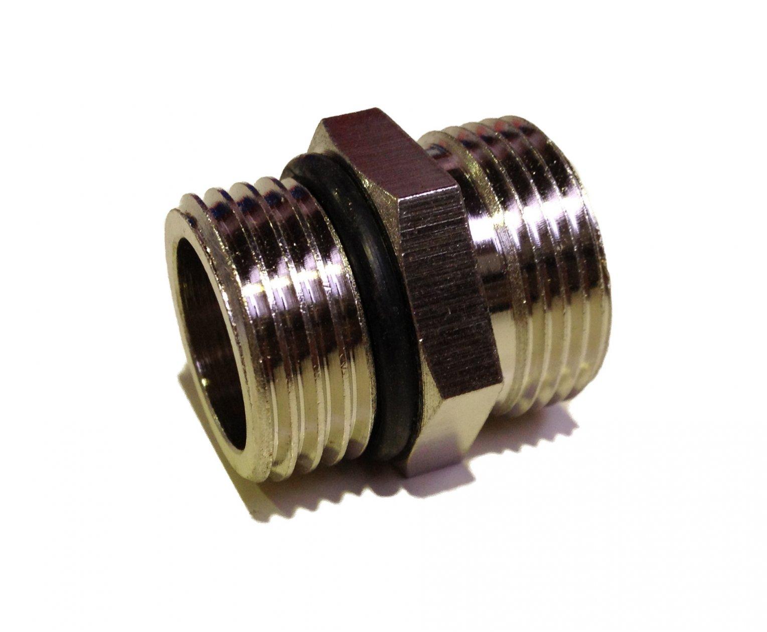 Brass Nipple 1/2M-oring x M22-cone Nickel