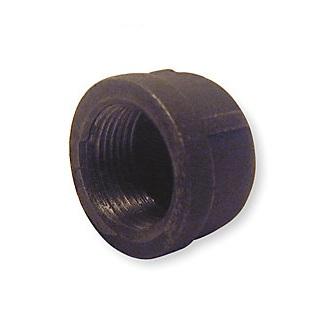 Malleable Iron Cap 3/4F Black