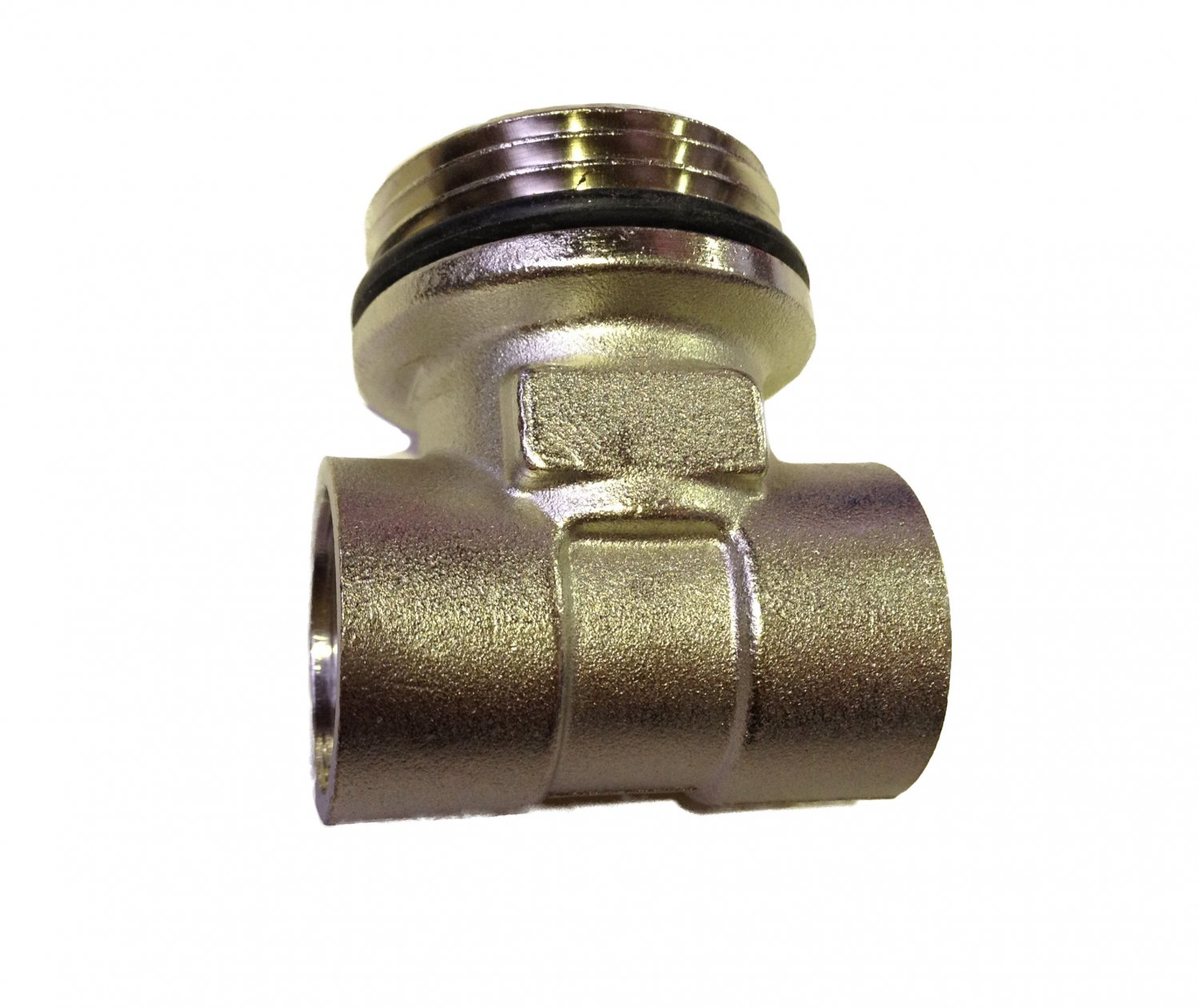Male End Tee 1/2F x 4/4M x 1/2F Nickel Plated