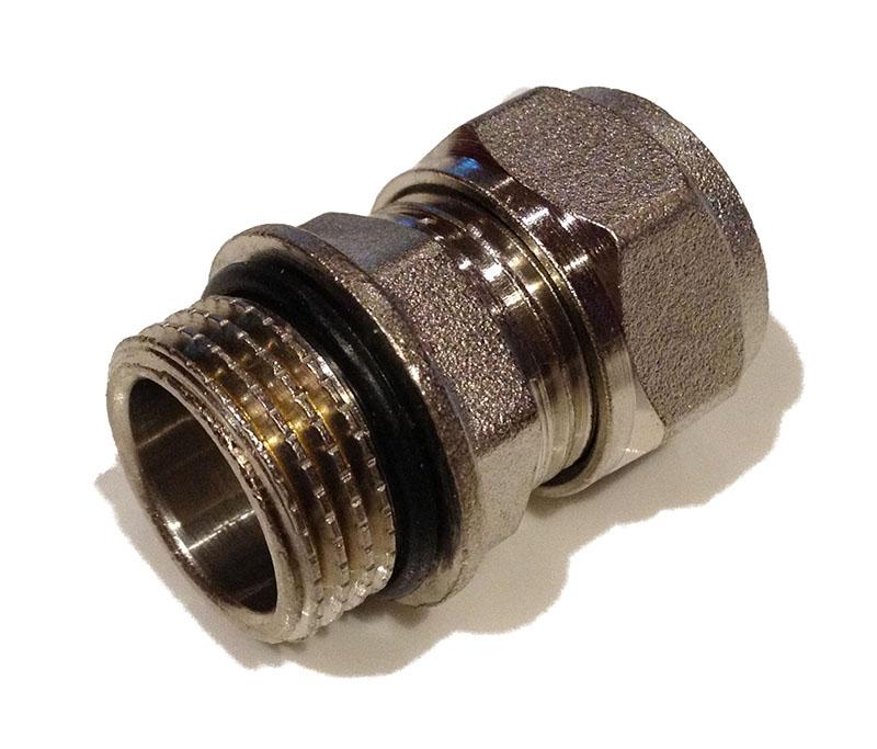 Compression Straight Male 1/2Mx16 oring